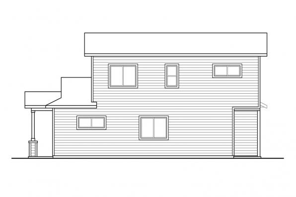 Duplex Design with Garage Culberson 60-053 - Left Elevation