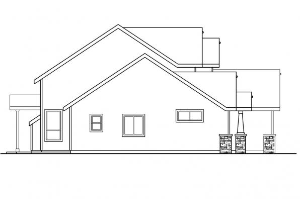 Country House Plan - Westdale 30-572 - Right Elevation