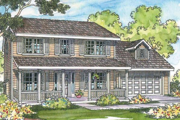 Country House Plan - Adkins 30-197 - Front Elevation