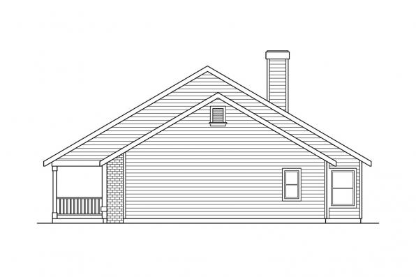 Country House Plan - Alpine 30-043 - Left Elevation