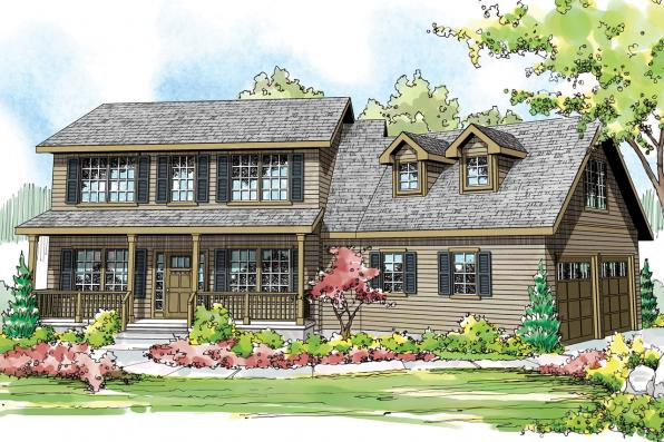 Country House Plan - Alsea 30-756 - Front Elevation
