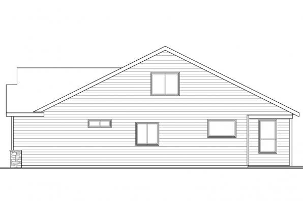 Country House Plan - Arborbrook 31-072 - Left Elevation