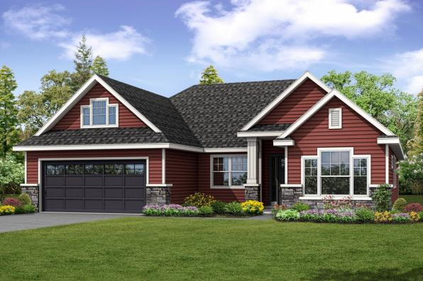 Country House Plan - Barrington 31-058 - Front Elevation