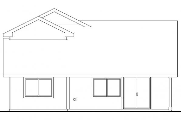 Country House Plan - Blanchard 30-550 - Rear Elevation