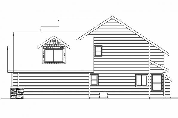 Country House Plan - Briarwood 30-690 - Left Elevation