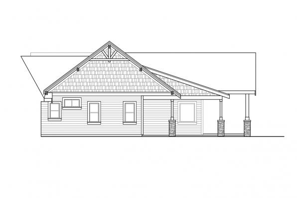 Country House Plan - Cabernet Creek 31-264 - Left Elevation at House