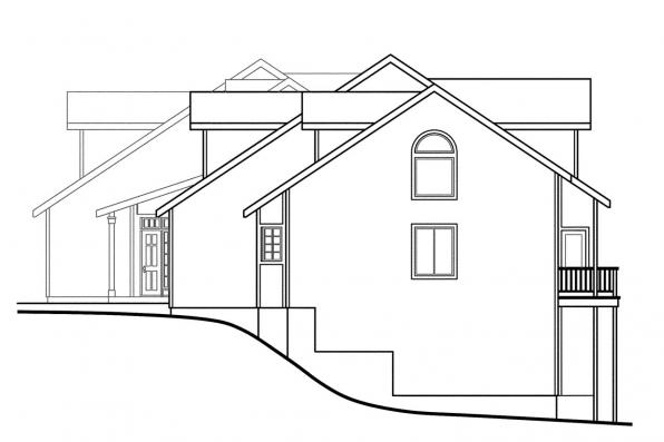 Country House Plan - Carmichael 60-014 - Left Elevation