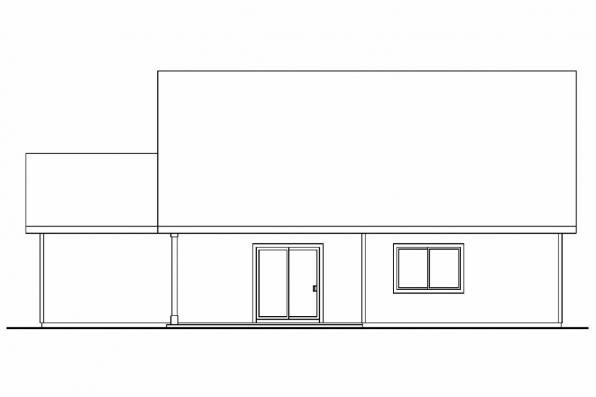 Country House Plan - Eastham 30-622 - Rear Elevation