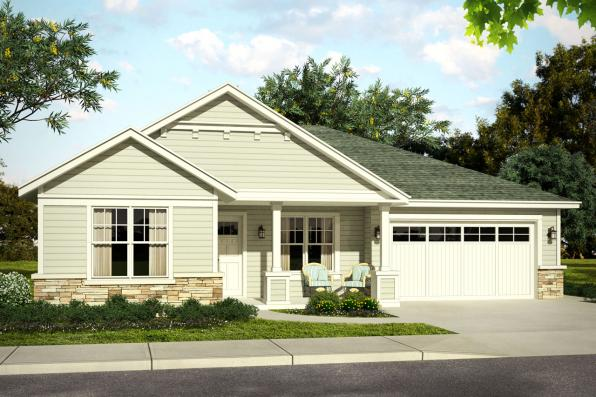 Country House Plan - Elsmere 31-014 - Front Elevation