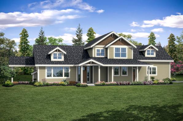 Country House Plan - Fairhaven 31-077 - Front Elevation