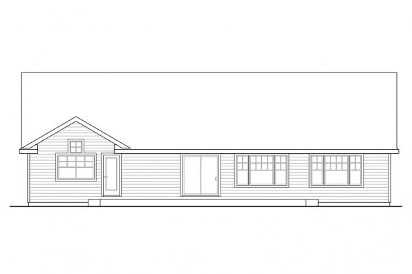 Country House Plan - Fern View 30-766 - Rear Elevation