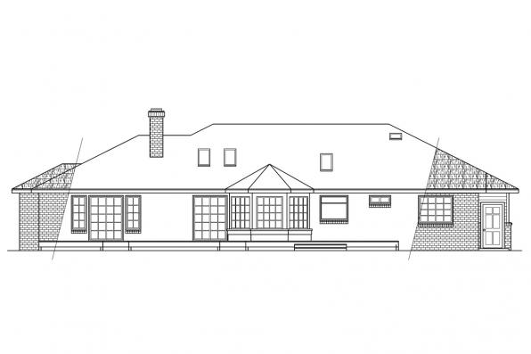Country House Plan - Grayling 10-207 - Rear Elevation