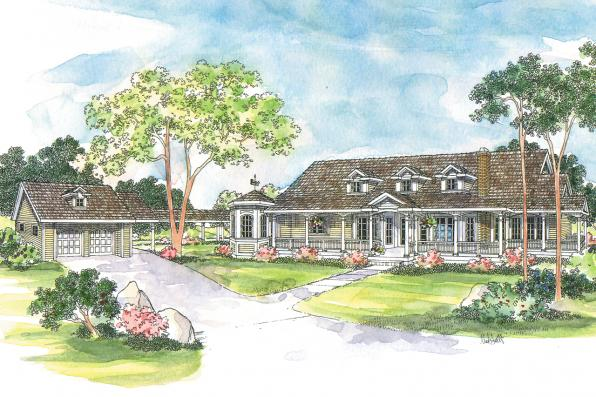 Country House Plan - Greenbriar 10-401 - Front Elevation