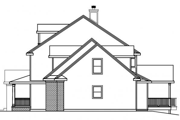 Country House Plan - Hanson 30-394 - Left Elevation