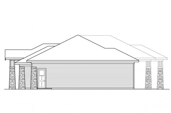 Country House Plan - Heartlodge 10-640 - Left Elevation