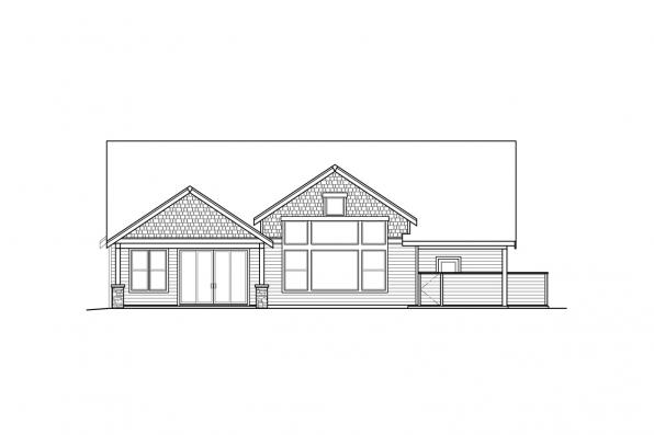 Country House Plan - Holly Hill 31-243 - Rear Elevation