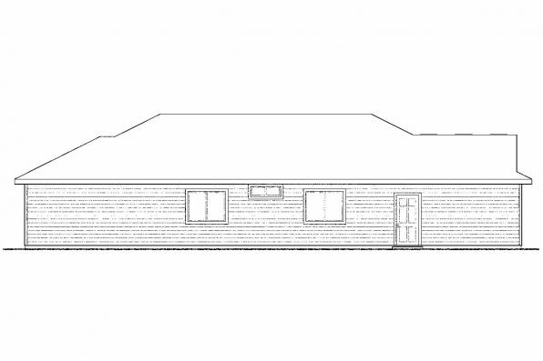 Country House Plan - Hopewell 30-793 - Rear Elevation