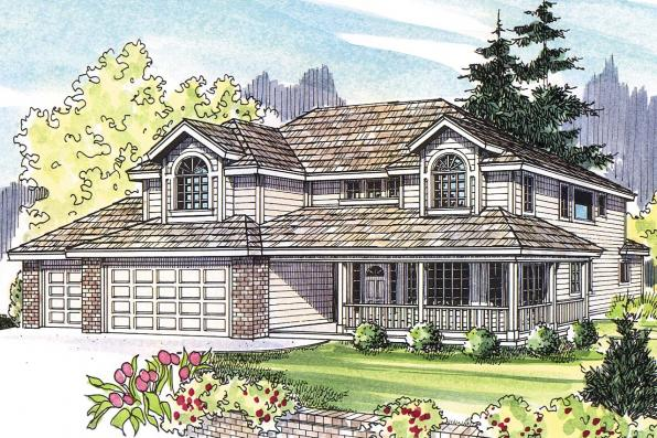 Country House Plan - Kaitlyn 30-338 - Front Elevation