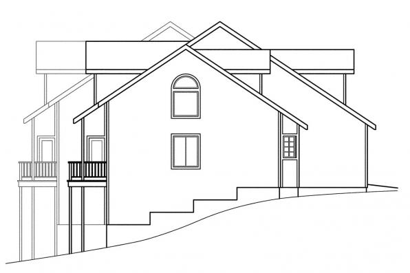 Country House Plan - Kirkwood 60-013 - Right Elevation