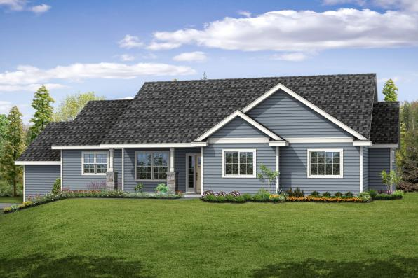 Country House Plan - Lakeridge 31-069 - Front Elevation