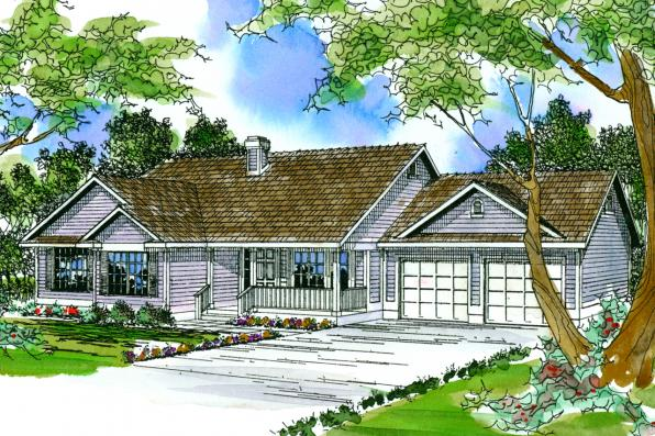 Country House Plan - Marysville 30-112 - Front Elevation