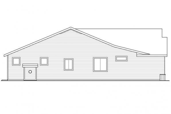 Country House Plan - Peyette 31-215 - Right Elevation