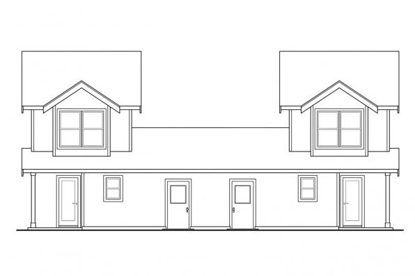 Country House Plan - Philipsburg 60-030 - Rear Elevation