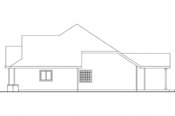Country House Plan - Pleasanton 30-545 - Left Elevation