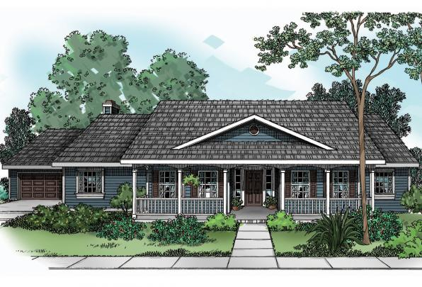 Country House Plan - Redmond 30-226 - Front Elevation