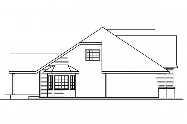 Country House Plan - Remmington 30-460 - Right Elevation
