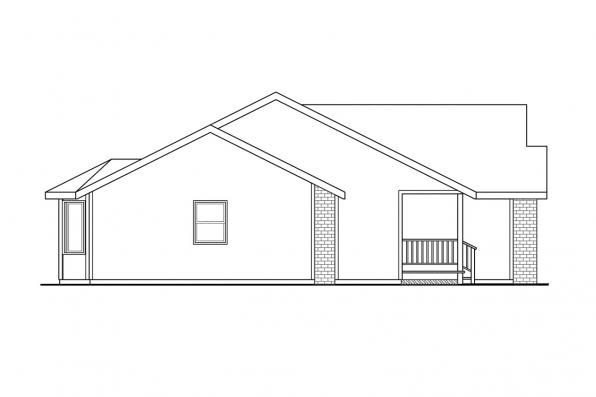 Country House Plan - Rigdon 30-090 - Right Elevation