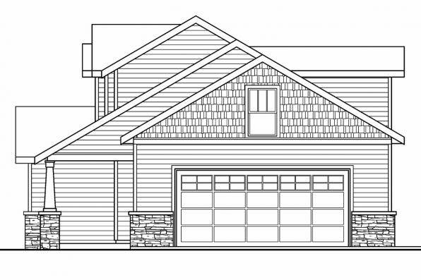 Country House Plan - Rockport 30-707 - Left Elevation