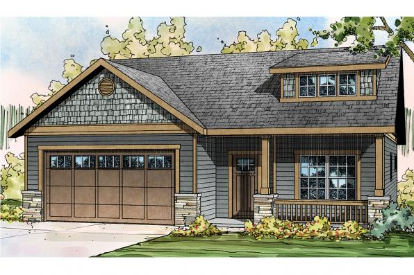 Country House Plan - Shasta 30-866 - Front Elevation