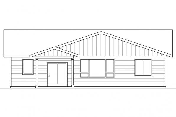 Country House Plan - Siuslaw 31-065 - Rear Elevation