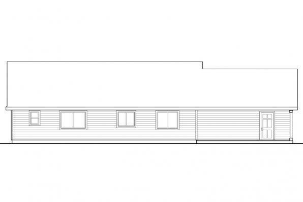 Country House Plan - Stanford 30-640 - Rear Elevation