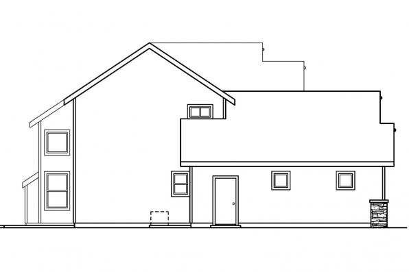 Country House Plan - Tazewell 30-477 - Right Elevation