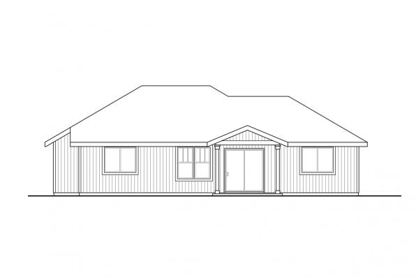 Country House Plan - Townsend 31-211 - Rear Elevation