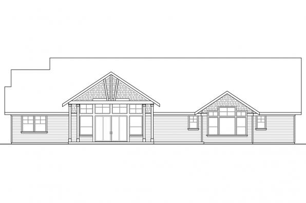 Country House Plans - Westheart 10-630 - Rear Elevation