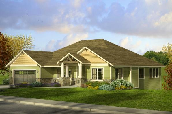 Craftsman House Plan - Berkshire 30-995 - Front Elevation