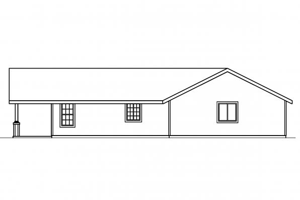 Craftsman House Plan - Branell 30-485 - Left Elevation