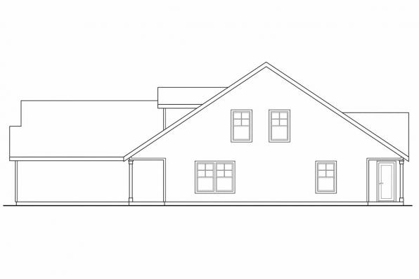Craftsman House Plan - Braydon 60-012 - Left Elevation