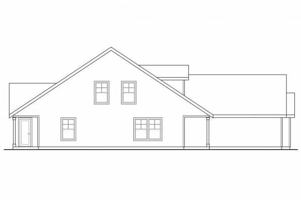 Craftsman House Plan - Braydon 60-012 - Right Elevation
