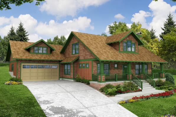 Craftsman House Plan - Carrington 30-360 - Front Elevation