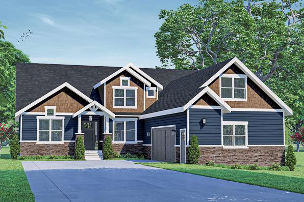 Craftsman House Plan - Holly Hill 31-243 - Front Elevation