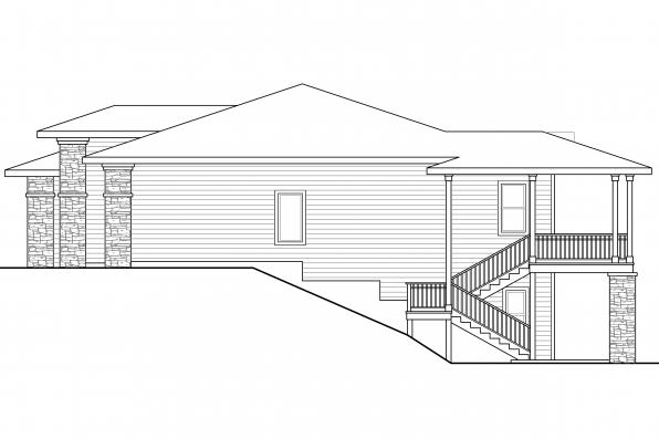 Craftsman House Plan - Hood River 30-947 - Left Elevation