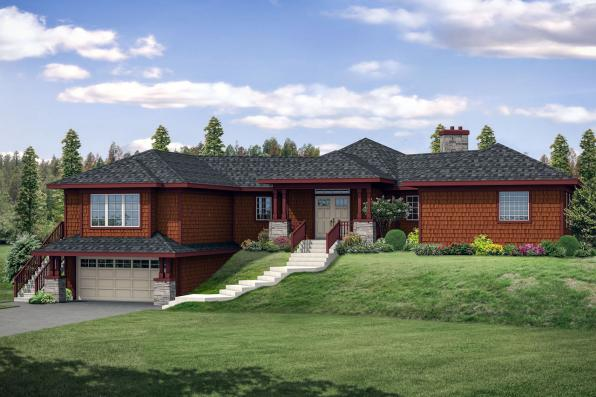 Craftsman House Plan Illahe 10-575 Front Elevation