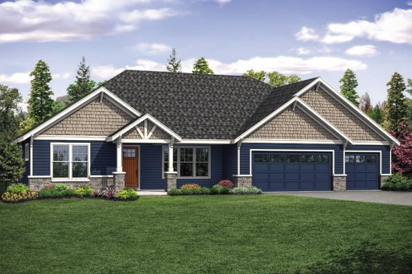 Craftsman House Plan - Laceflower 31-118 - Front Exterior