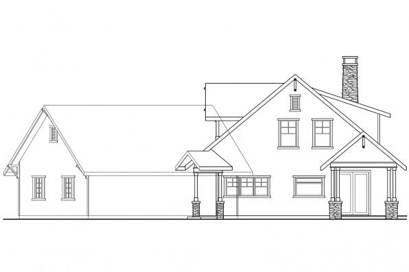 Craftsman House Plan - Mariposa 10-351 - Left Elevation