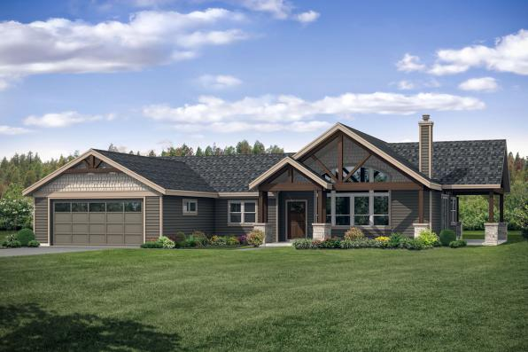Country House Plan - Multnomah 31-121 - Front Exterior