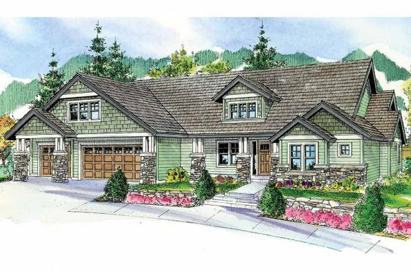 Craftsman House Plan - Oakley 30-691 - Front Elevation